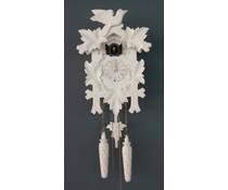 Trenkle Uhren Cuckoo Clock 35cm peints en blanc avec mouvement quartz et le capteur de lumière