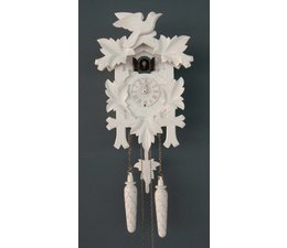 Trenkle Uhren Beautiful 35cm deep carved cuckoo clock in the Black Forest made with quartz movement and cuckoo with light sensor under the dial as soon as it gets dark turns off the cuckoo