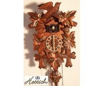 Hettich Uhren Kuckucksuhr 23cm mit Blumen handbemalt mit Quarzwerk und automatischer Nachtabschaltung mit 12 verschiedene Melodien