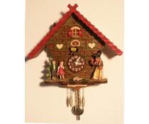 Trenkle Uhren Kuckucksuhr 17 cm mit Hänsel&Gretel bestückt und Quarzwerk mit automatischer Nachtabschaltung