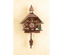 Trenkle Uhren Kuckucksuhr 24cm  im Schwarzwald hergestellt mit Quarz-Laufwerk und Kuckuckruf mit automatischer Nachtabschaltung