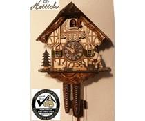 Hettich Uhren Kuckucksuhr 23cm mit 1 Tag mechanischem Rechenschlagwerk und beweglichem Holzhacker