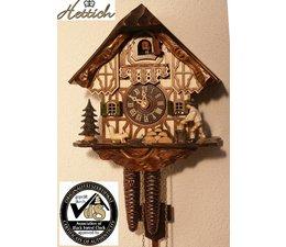 Hettich Uhren Sehr schönes Schwarzwaldgehäuse mit Fachwerk und  beweglichem  Holzhacker