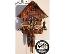 Hettich Uhren Kuckucksuhr 23cm mit 1 Tag mechanischem Rechenschlagwerk und beweglichem Biertrinker