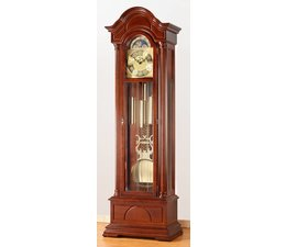 Hettich Uhren Exclusive Grandfather Clock No.35-50 walnut painted in the Black Forest made Dimensions: 208x65x35cm 3 - melodies percussion