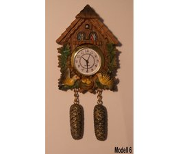 Hettich Uhren Magnet Cuckoo Clock with real functioning quartz movement Size 13cm high and 7cm wide