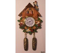 Hettich Uhren Magneet Cuckoo Clock met echte werking quartz uurwerk Grootte 13cm hoog en 7cm breed