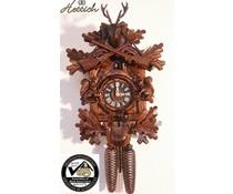 Hettich Uhren Orginal Schwarzwälder Kuckucksuhr mit 8 Tage Rechenschlagwerk 40cm hoch