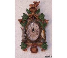 Hettich Uhren Kuckucksuhr mit echt funktionierendem Quarzwerk Größe 20cm hoch und 12cm breit - Copy - Copy