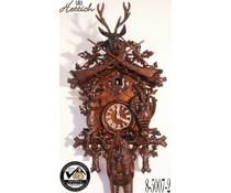 Hettich Uhren Orginal Schwarzwälder Kuckucksuhr mit 8 Tage Rechenschlagwerk 95 Jagdstück-Motiv - Copy - Copy