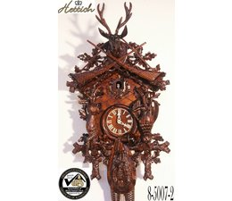 Hettich Uhren Aquarellée à la main de la Forêt Noire Coucou conçu 95cm de haut avec hangefertigter Chasse motif sculpture - Copie - Copie