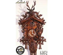 Hettich Uhren Original Black Forest Cuckoo Clock hand crafted 95cm high with hangefertigter Hunting motif carving - Copy - Copy
