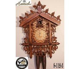Hettich Uhren Orginal im Schwarzwald handgefertigte Kuckucksuhr mit handgefertigter Schnitzerei 52cm hoch und 36cm breit - Copy - Copy
