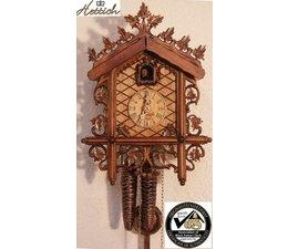 Hettich Uhren Orginal im Schwarzwald handgefertigte Kuckucksuhr mit handgefertigter Schnitzerei 27cm hoch und 20cm breit - Copy - Copy