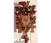 Hettich Uhren Cuckoo Clock 23cm avec mouvement quartz et de la nuit en veille automatique avec 12 mélodies différentes - Copie