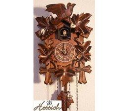 Hettich Uhren Cuckoo Clock met beweging 23cm kwarts hoog en 18cm breed met 12 verschillende melodieën, koekoekskoekoek bijv. 10 uurs klok hij noemt de 10x koekoek koekoek is een echo en een waterval op de achtergrond ruis ef