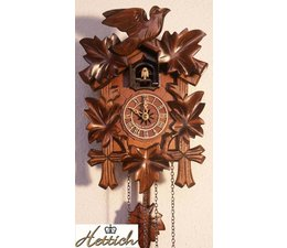 Hettich Uhren Reloj de cuco con movimiento de cuarzo 23cm de alto y 18cm de ancho con 12 melodías diferentes, por ejemplo del reloj de cuco cuco 10 horas que él llama el cuco cuco 10x es un eco y una cascada en el ruido de fondo ef