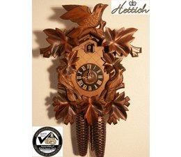 Hettich Uhren Sehr schöne im Schwarzwald  handgefertigte Kuckucksuhr 40cm hoch  mit hangefertigte Schnitzerei