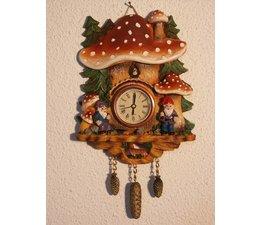 Hettich Uhren Pilzhruhr met echt functionerende quartz uurwerk maat 18cm hoog en 14cm breed - Kopiëren - Kopiëren