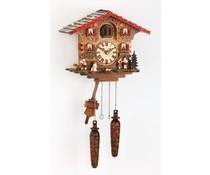 Trenkle Uhren Cuckoo Clock 25cm handgemaakte houten leiendak met quartz uurwerk en lichtsensor - Copy