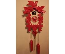 Trenkle Uhren Cuckoo Clock 35 centimetri rosa dipinto di bianco con movimento al quarzo e sensore di luce - Copia