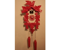 Trenkle Uhren Cuckoo Clock 35cm pink painted white with quartz movement and light sensor - Copy