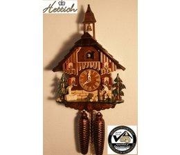 Hettich Uhren Orginal im Schwarzwald handgefertigte Kuckucksuhr 27cm hoch und 23 cm breit - Copy