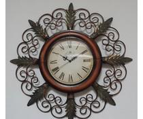 Hettich Uhren Nuovo orologio di design per la casa battuto orologio da parete in ferro con movimento al quarzo finemente artigianale in stile classico con movimento al quarzo Dimensioni: 65x35cm HT02053