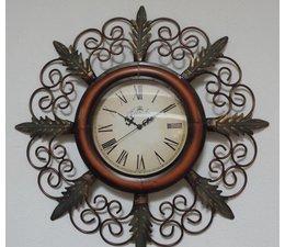 Hettich Uhren Nouvelle horloge de conception de maison en fer forgé horloge murale à quartz Etroitement conçu dans le style classique avec mouvement à quartz Taille: 65x35cm HT02053