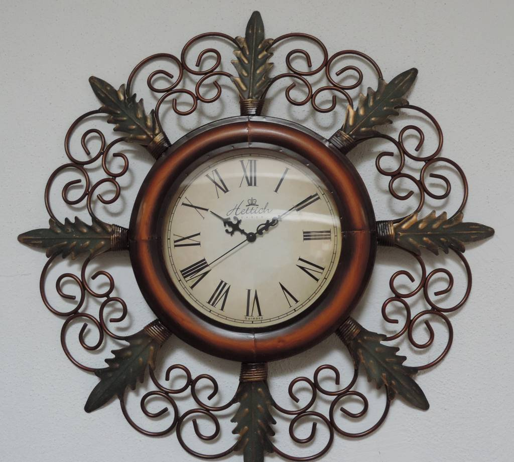 Hettich Uhren New home design clock wrought iron wall clock with ...