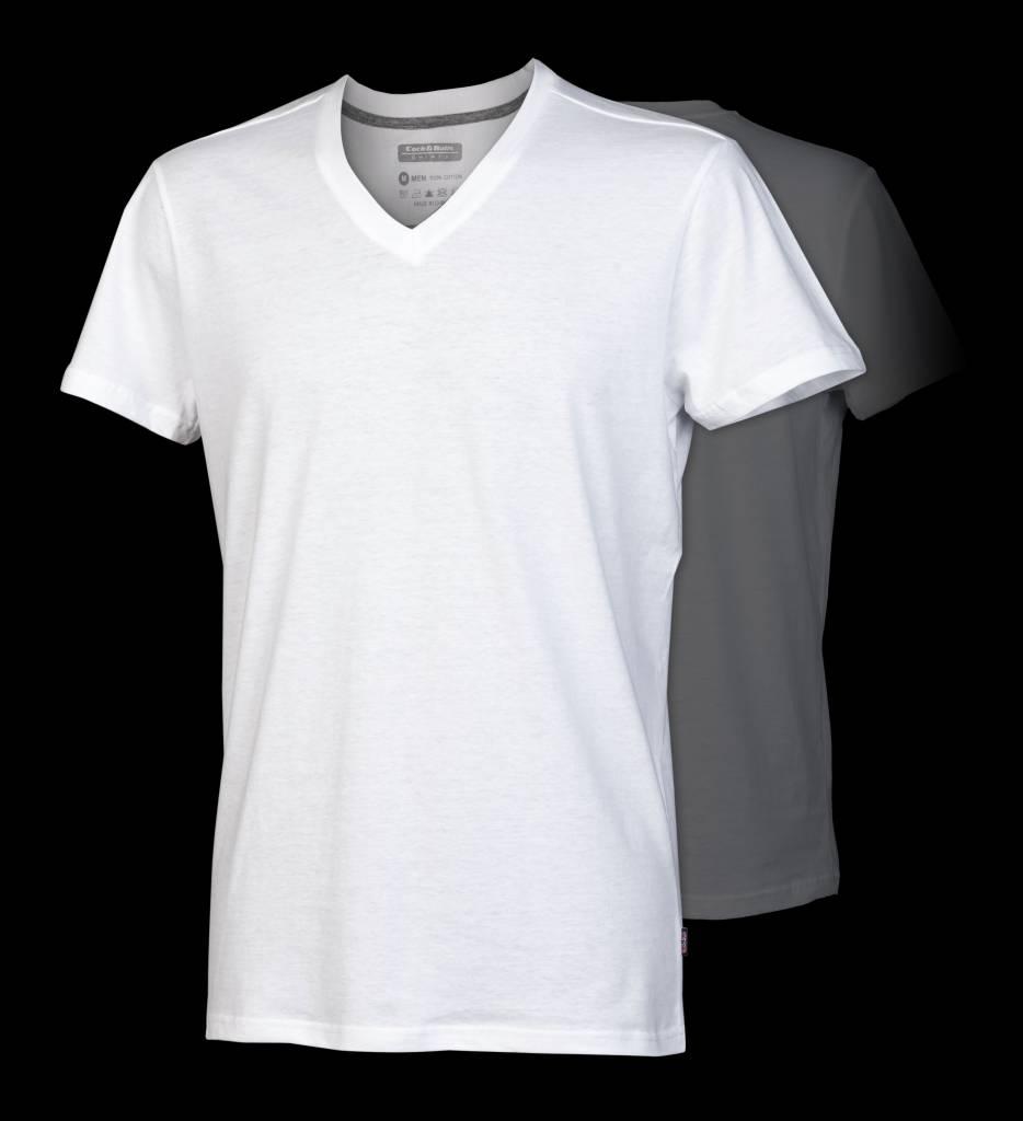 White t shirt image 100 for White t shirt v neck