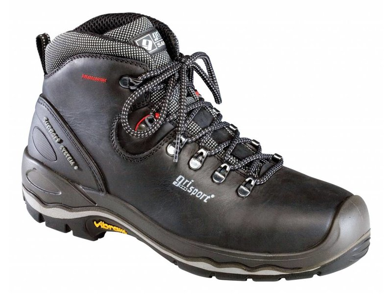 Grisport 72049L Zw./Rood S3 UK Boot Vibram