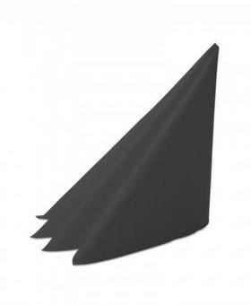 Servet 2lgs 40x40cm 8v zwart 20x100st