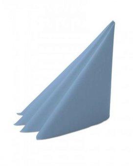 Servet 2lgs 40x40cm 8v lichtblauw 20x100st