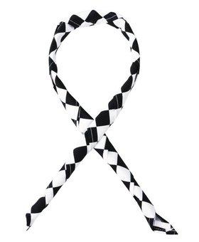 Whites Chefs Clothing Whites halsdoek zwart/wit geblokt