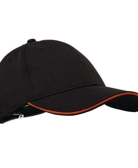 Colour by Chef Works Oranje randje Colour by Chef Works Cool Vent baseball cap oranje