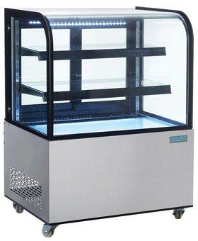 Polar Polar 270 liter gekoelde vitrine met gebogen glas
