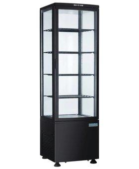 Polar Polar 235ltr koelvitrine met gebogen glasdeur