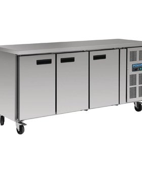 Polar Polar417ltr GN1/1 70cm 3-deurs koelwerkbank
