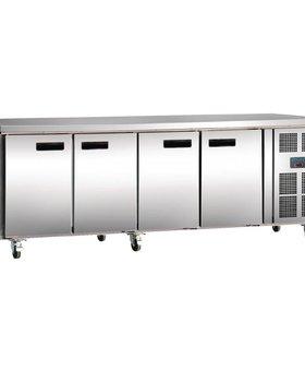 Polar Polar 553ltr GN1/1 70cm 4-deurs koelwerkbank