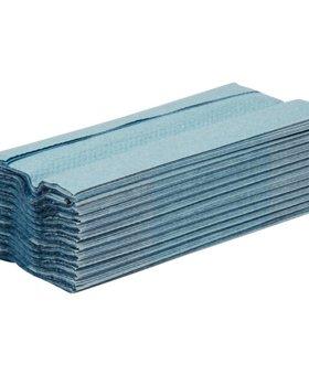 Jantex Jantex blauw C-gevouwen handdoeken 2-laags
