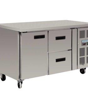 Polar Polar 228ltr GN1/1 koelwerkbank 1 deur en 2 laden