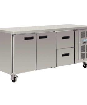 Polar Polar 417ltr GN1/1 koelwerkbank 2 deuren en 2 laden