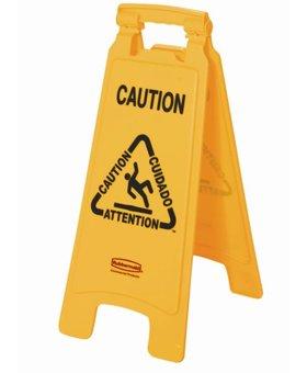 Rubbermaid Rubbermaid meertalig waarschuwingsbord Caution