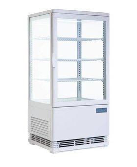 Polar Polar 86ltr wit koelvitrine met gebogen deuren