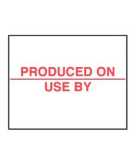 Avery Dennison 14000st Produced On/Use by labels 20x16mm