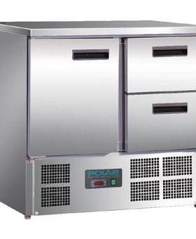 Polar Polar 240ltr GN1/1 koelwerkbank 1 deur en 2 laden