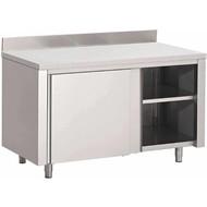 Werktafels met schuifdeuren met achteropstand