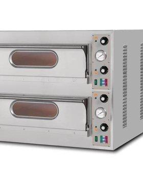 Resto Italia Resto Italia 2kamers pizza oven met 2 ovenkamers