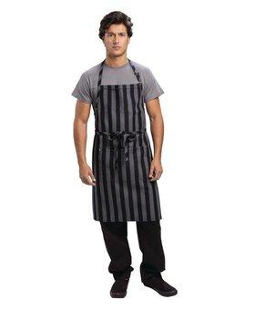 Chef Works Chef Works Chesapeake bistro schort brede streep zwart